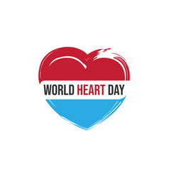 creative concept world heart day image vector image