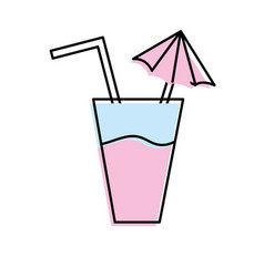 Delicious water glash to refresh day vector