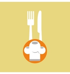 delivery food chef hat fork knife vector image