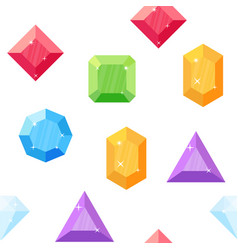 diamonds in various shapes seamless pattern vector image