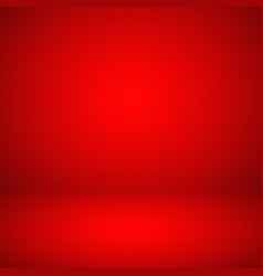 empty red studio abstract background vector image