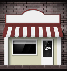 facade of the building shop with a signboard vector image