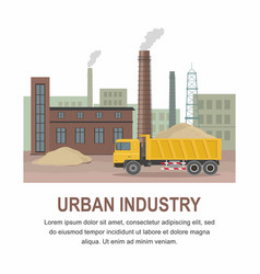 factory industry zone construction transport vector image