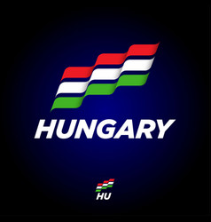 flag hungary dynamic culture celebration icon vector image