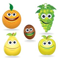 Fruit cartoons vector