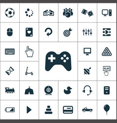Game icons universal set for web and ui vector