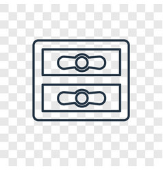 gas pipe concept linear icon isolated on vector image