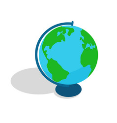 Geographical globe spherical or rounded object vector
