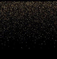 Golden glitter sparkle bubbles champagne vector