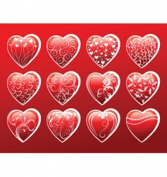 Hearts symbols vector