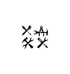 home repair tool logo icon vector image
