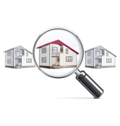 house with lens vector image