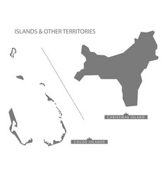 Islands and other territories australia map grey vector