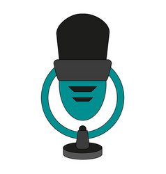 isolated microphone ico vector image