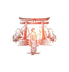 japan country sakura traditional asia concept vector image