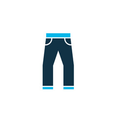 jeans icon colored symbol premium quality vector image