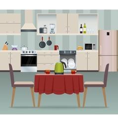 Kitchen interior poster vector