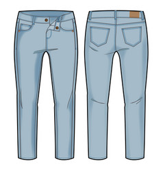 Light blue pants vector