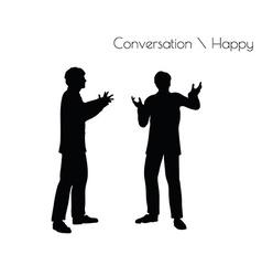 Man in Conversation Happy Talk vector