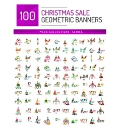 Mega collection of Christmas sale banner templates vector