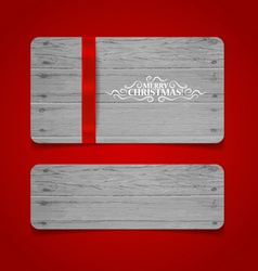 Merry Christmas gift card design vector image