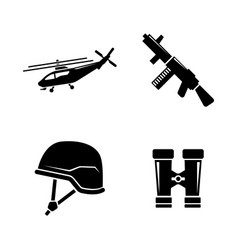 military ammunition simple related icons vector image