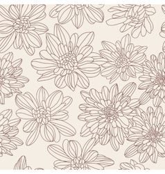 Monochrome floral seamless pattern vector image vector image