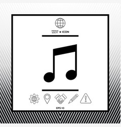 Music symbol icon vector
