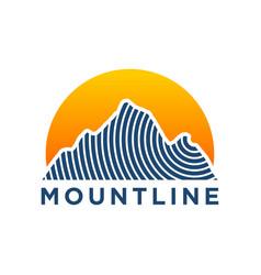 Outdoor mountain nature logo - adventure wildlife vector