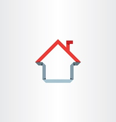 paper house home sign vector image