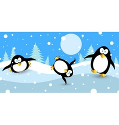 Penguin dance vector