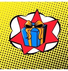 Pop art gift vector