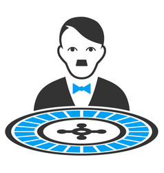 Roulette croupier flat icon vector