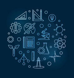 science technology engineering arts and vector image
