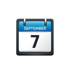 September 7 Calendar icon vector
