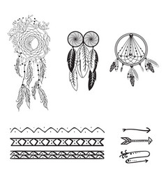 Set dreamcatcher vector
