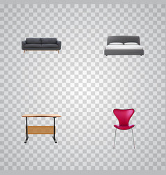 Set of design realistic symbols with seating vector