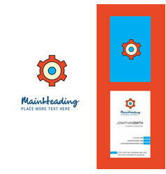 setting gear creative logo and business card vector image