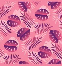 Simple geometric tropical seamless pattern vector