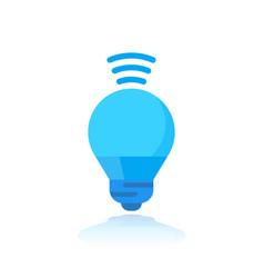 Smart led light icon blue on white vector