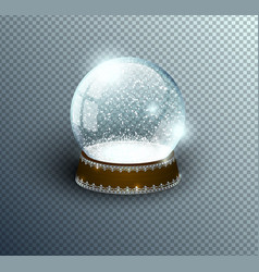 snow globe empty template isolated on vector image
