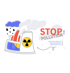 stop pollution - colorful flat design style web vector image