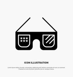 sunglasses glasses american usa solid glyph icon vector image