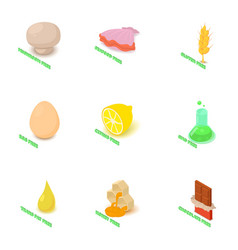 tallow icons set isometric style vector image