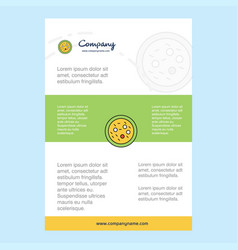 Template layout for bacteria on plate comany vector