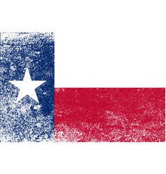 texas state flag grunge vector image