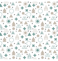 Textile tribal background geometric scandinavian vector
