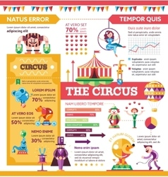 The Circus - poster brochure cover template vector