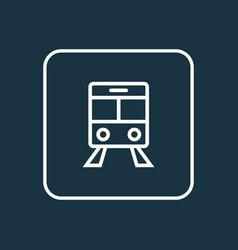 train outline symbol premium quality isolated vector image