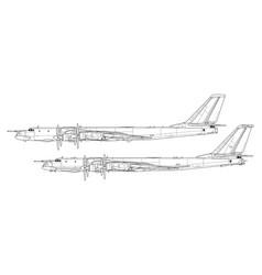 Tupolev tu-95 bear vector